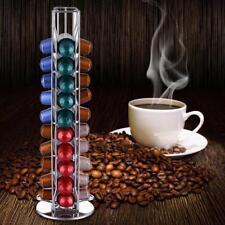 40 Rotating Capsule Coffee Pod Holder Tower Stand Rack For Nespresso Revolving #