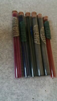 COLLECTION OF SIX SETS VINTAGE PENCIL LEADS - OFFREY - IN GLASS TUBES