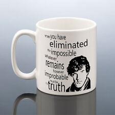 SHERLOCK HOLMES MUG Benedict Cumberbatch Cup Birthday Gift Him Her Valentines