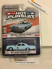 Greenlight HOT PURSUIT 1977 Dodge Royal Monaco Lt Blue  Montana Hwy Patrol * Y46