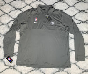 NIKE Dry Toronto Raptors NBA Team Issue Zip Pullover Gray Sz 2XL *NEW* RARE