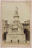 Monumento A Cristoforo Colombo A Genoa Italia Foto PL17c1n1 Vintage Albumina