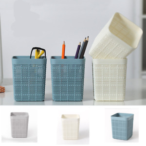 Hollow Pen Pencil Pot Holder Cosmetic Stationery Organizer Brush Container squar