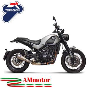 Termignoni Benelli Leoncino 500 2018 Terminale Di Scarico Moto Relevance Titanio