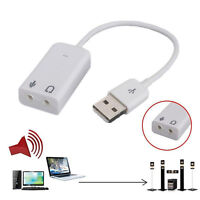 External Virtual USB2.0 Audio Adapter For Laptop Stereo Sound Card Converter 7.1