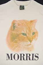 S VTG 80s DEADSTOCK Morris the Cat T Shirt 9 Lives Cat Food Promo TV Commercial