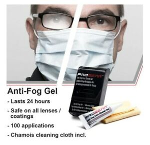 Progear Anti-Fog Lens Cleaner Gel - glasses spectacles goggles visors scuba mask