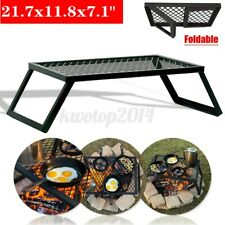Portable Foldable Camping Grill Outdoor Campfire Grill BBQ Picnic Barbecue US