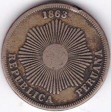 1863 Perú 2 centavos *** *** Coleccionistas