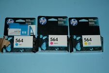 HP 564 Set of 3 Ink Cartridges NEW Genuine 3 colors ONE PACK OPENED UN-USED