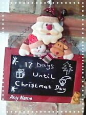 Personalised rustic wooden christmas santa chalkboard  X 2 Any Name SALE!!