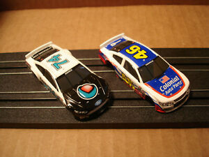 2 TOMY AFX HO SCALE BODIES ONLY FORD FUSION #74 CORE VS MONTE CARLO #46 COLONIAL