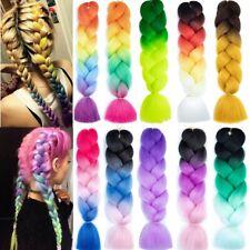 79 Colors Real Thick Rainbow Kanelon Jumbo Braiding Hair Extensions Box Braids
