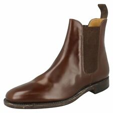 Mens Loake Brown Leather Chelsea BOOTS Style 290T UK 12 F