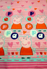 "Peppa Pig Large Panel Pink FABRIC - L94"" x W45"" inches - Cotton Blend"