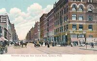 SPOKANE WA – Riverside Avenue East from Peyton Block