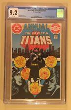 New Teen Titans Annual # 2 CGC 9.2 1st Adrian Chase Vigilante NM DC