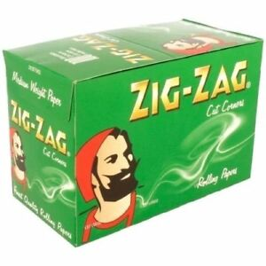 ZIG ZAG GREEN RIZLA/ROLLING PAPERS 50 BOOKLETS X 50 PAPERS