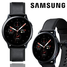 Samsung Galaxy Watch Active 2 40mm StainlessSteel Leather Smartwatch Fitness LTE