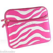 """Apple iPad Air/ iPad 1 2 3 Case -Pink Zebra Water Resistant Slim Sleeve 10"""" inch"""
