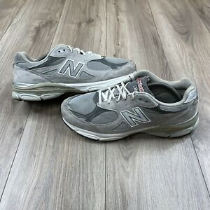 New Balance 990v3 Gray Suede Running Shoes MADE IN USA M990GL3 Mens Size 10.5 2E