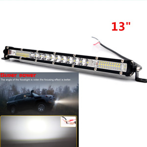 "Waterproof Super Slim 13""  200W LED Light Bar Spot Flood Beam Fit Car ATV 12V"