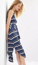 Gap Stripe wrap-belt midi dress, Multi Stripe ~ NWT XXL