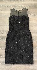 Oscar de la Renta Black Lace Flower Women's Size 6
