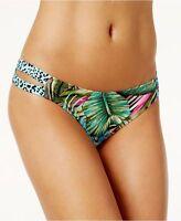 NEW Sundazed Multi Floral Sasha Strappy Bikini Swim Hipster Bottom L Large
