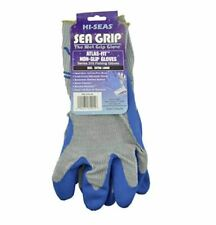 Hi-Seas Sea Grip Premium Non-Slip Gloves, Extra Large Size, Gray and Blue