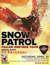 "SNOW PATROL /ED SHEERAN ""FALLEN EMPIRES TOUR"" 2012 SALT LAKE CITY CONCERT POSTER"