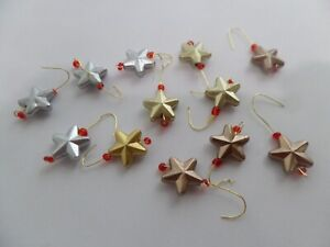 12- 3D star metal Ornaments .Dollhouse Minis1:12 Gailslittlestuff