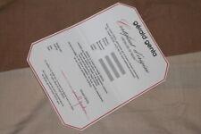 Certificato GERALD GENTA originale