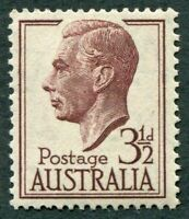 AUSTRALIA 1951 3 1/2d brown-purple SG247 mint MH FG King George VI KGVI #W36