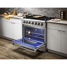 "Thor Kitchen 36"" Gas Range 6 Burner Cooktop Oven Cooker Stainless Steel HRG3618U photo"