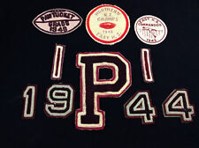 1940's vintage Pawtucket R.I. East High school Football patches & letters sports