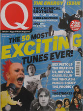 THE 50 MOST EXCITING TUNES EVER! January 2002 Q Magazine SEX PISTOLS  U2 NIRVANA