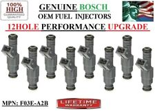 Set of 8 NEW 12HOLE OEM BOSCH Fuel Injectors *Yrs 86-87 Lincoln Mark VII 5.0L V8