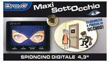 SPIONCINO TELECAMERA PORTA MONITOR LCD 4,3 POLLICI FUNZIONE REGISTRAZIONE SD