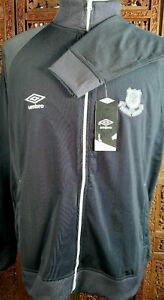 Umbro FTBL Jacket Men Size M Gray Full Zip Moisture Wicking Athletic Medium NWT