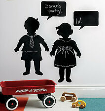 Vintage Kids Children Chalkboard Black Board Chalk Mural Instant Sticker Decals