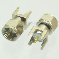 1pce F male with plug center solder for PCB mount RF connector