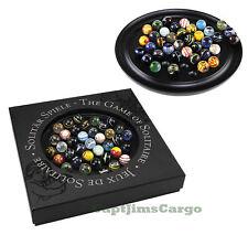 "Solitaire Di Venezia Wooden Game 25mm (0.98"") Hand Blown Glass Marbles"
