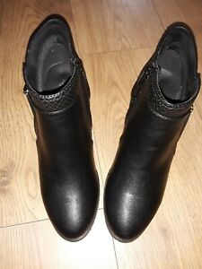 LADIES Wallace Black Ankle boots Uk Size 6  Bnwob