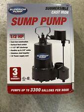 Pump Sump 1/2Hp Cast Iron, Part 92541, by Superior Pump