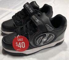 Heelys Youth Size 5 Black Light Up Skate Shoes (No Wheels)