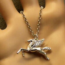 sterling silver new pegasus pendant & chain