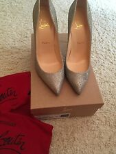 **CHRISTIAN LOUBOUTIN** Pigalle Follies 100 Sparkle Pumps Heels Shoes