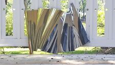 "Curtis Jere Chrome and Brass ""Outfold"" Wave Sculpture Rare Original Tag #100575"