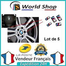5 X stickers jantes volant bmw pack m m3 m5 logo badge lot 3D sigle jante TB